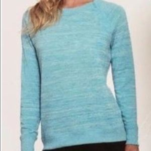 GERRY Women's Crew Turquoise Neck Sweater Shirt -L